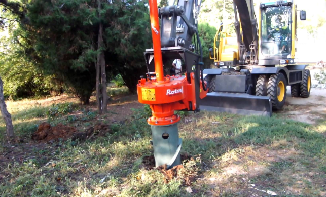 This picture shows stump removal in Camarillo, CA.